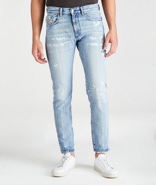 D-Strukt Distressed Slim-Fit Jeans picture 1