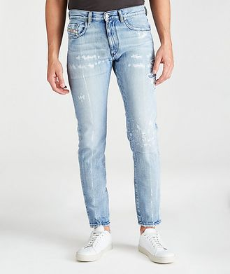 Diesel D-Strukt Distressed Slim-Fit Jeans