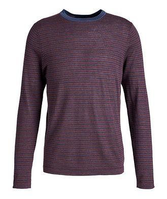 Patrick Assaraf Striped Wool Sweater