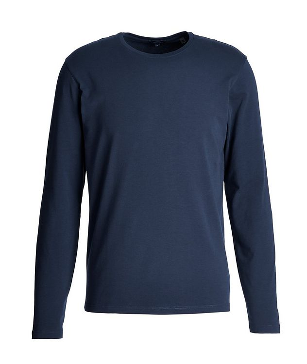 Long-Sleeve Stretch-Pima Cotton T-Shirt picture 1