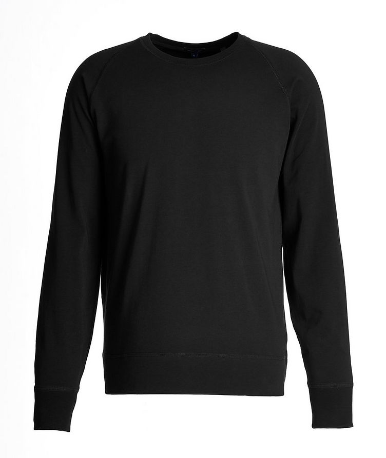 Long-Sleeve Stretch-Pima Cotton T-Shirt image 0