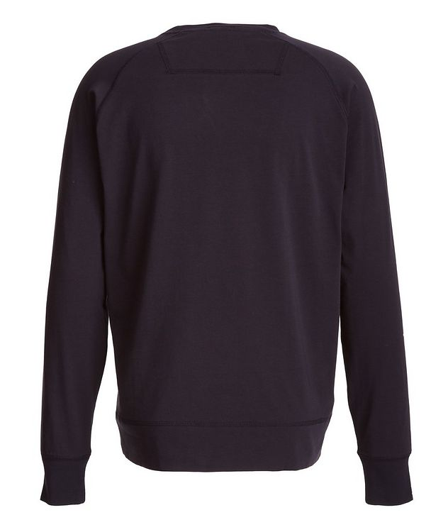 Long-Sleeve Stretch-Pima Cotton T-Shirt picture 2