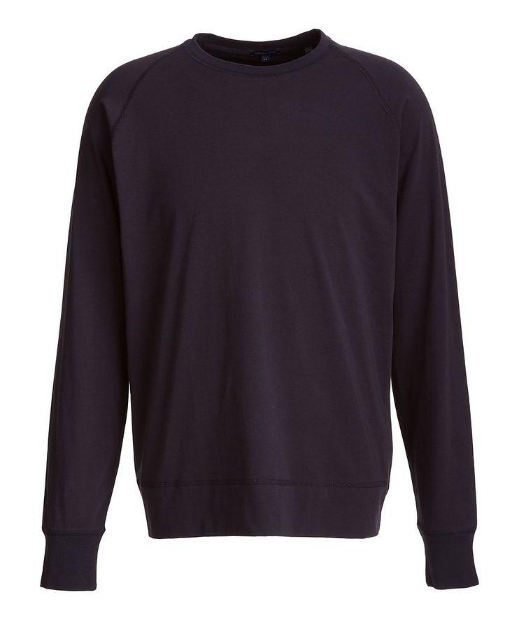 Long-Sleeve Stretch-Pima Cotton T-Shirt image 0