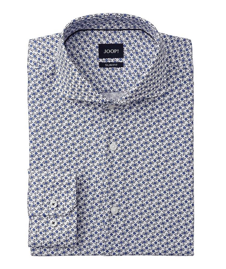 Slim Fit Floral-Printed Dress Shirt image 0