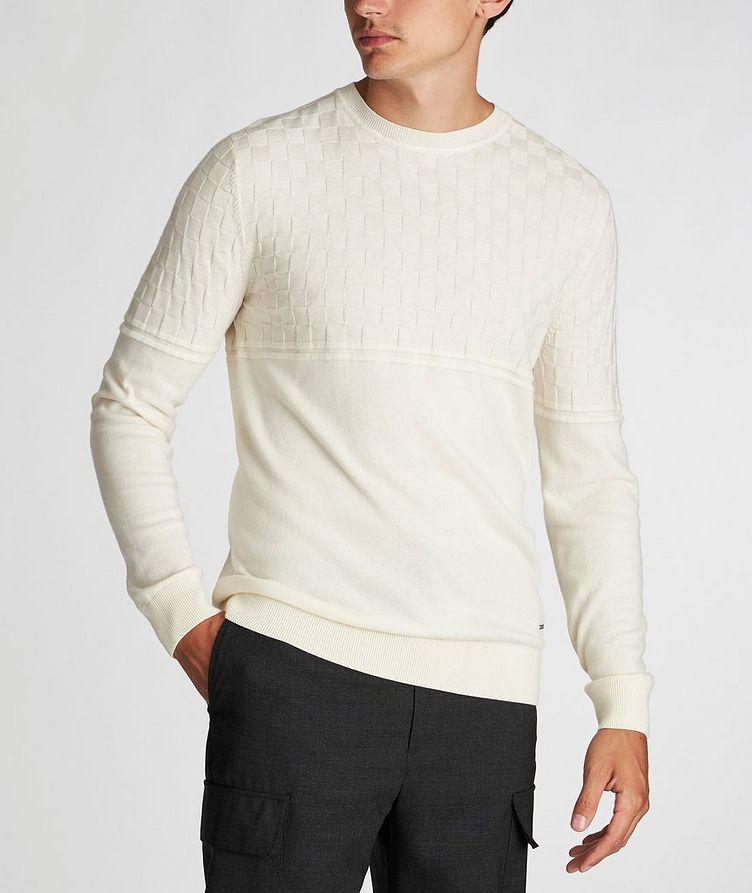 Pull en tricot de coton et laine image 1
