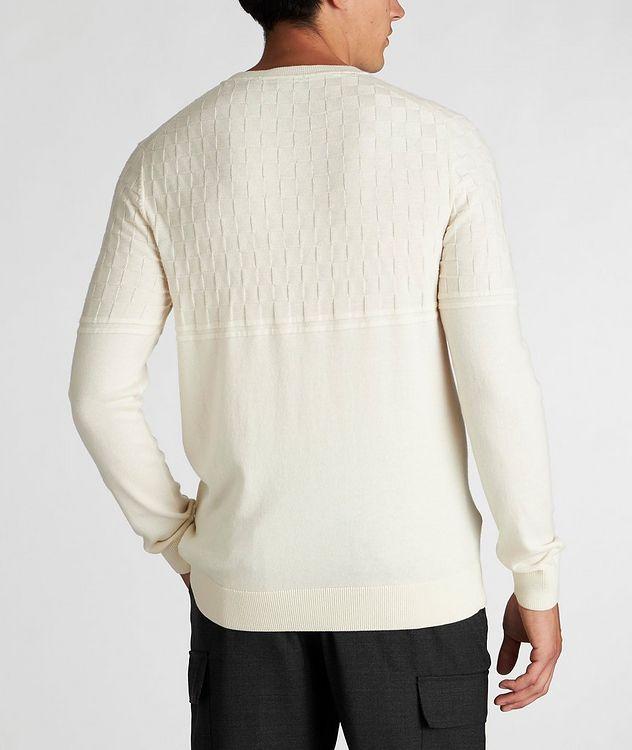 Pull en tricot de coton et laine picture 3