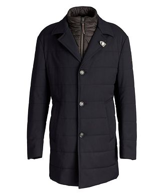 Joop! Stretch-Wool Car Coat