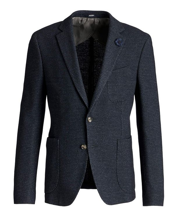 Slim Fit Houndstooth Sports Jacket picture 1