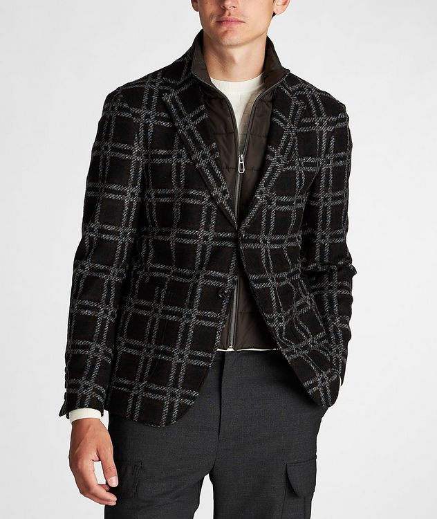 Slim Fit Checked Sports Jacket picture 2