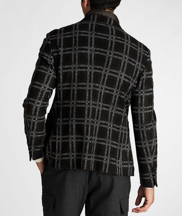 Slim Fit Checked Sports Jacket picture 3