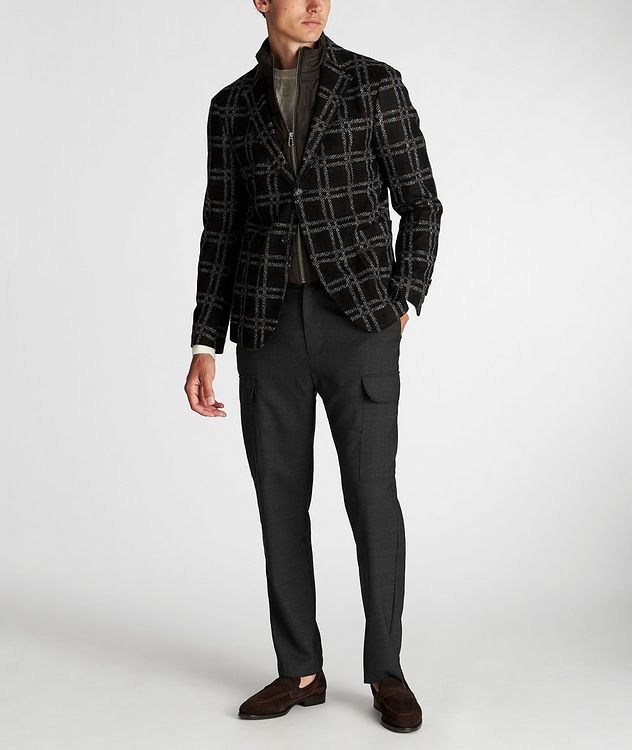 Slim Fit Checked Sports Jacket picture 6