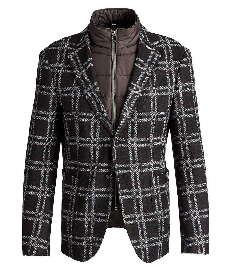 Slim Fit Checked Sports Jacket image 0