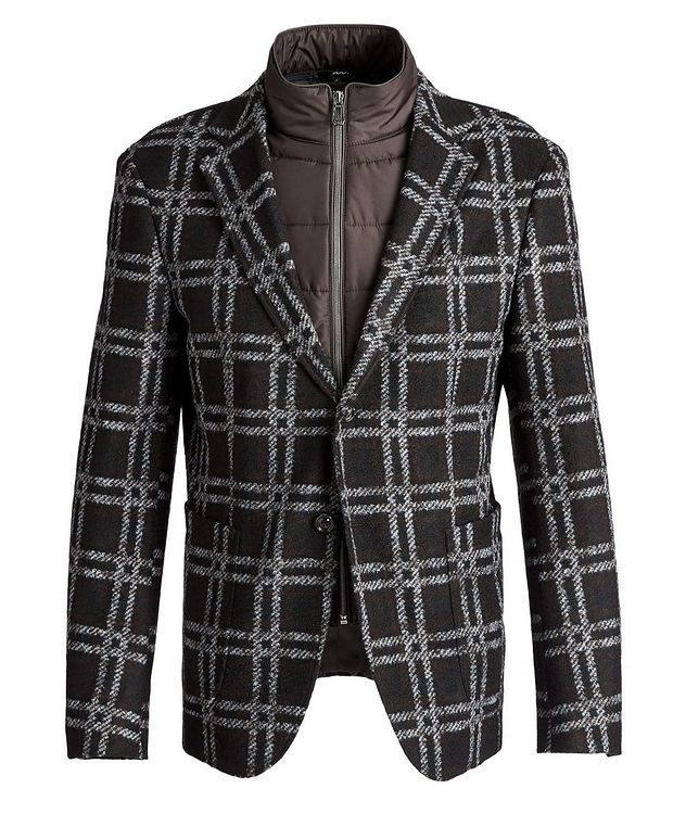 Slim Fit Checked Sports Jacket picture 1