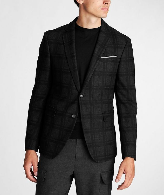Slim Fit Houndstooth Sports Jacket picture 2