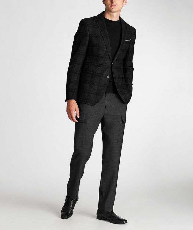 Slim Fit Houndstooth Sports Jacket picture 5