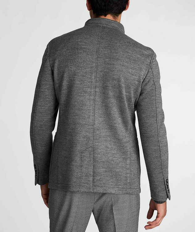 Slim Fit Virgin Wool-Blend Sweater Jacket picture 3