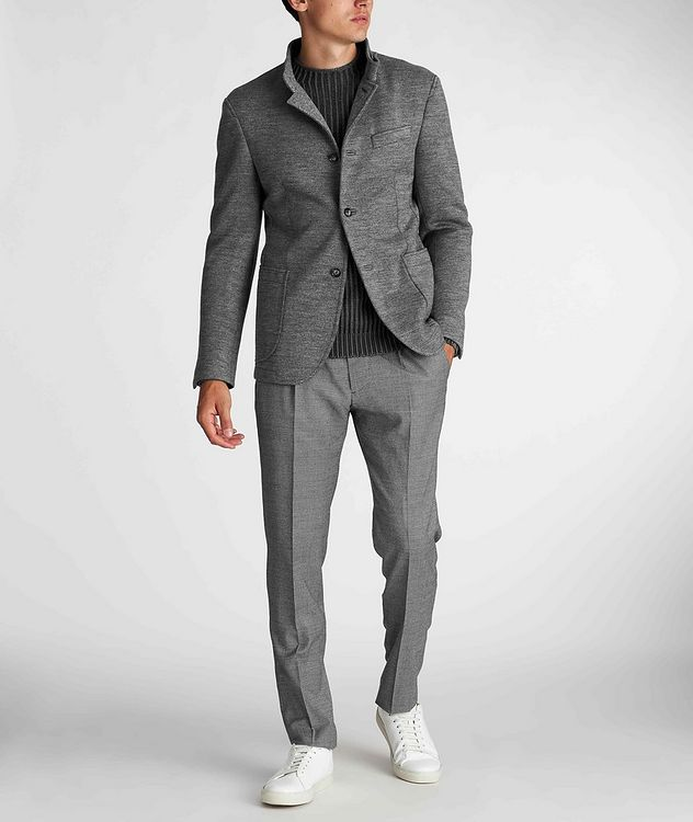 Slim Fit Virgin Wool-Blend Sweater Jacket picture 6