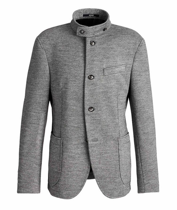 Slim Fit Virgin Wool-Blend Sweater Jacket image 0