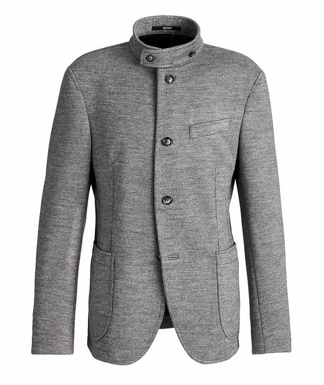 Slim Fit Virgin Wool-Blend Sweater Jacket picture 1