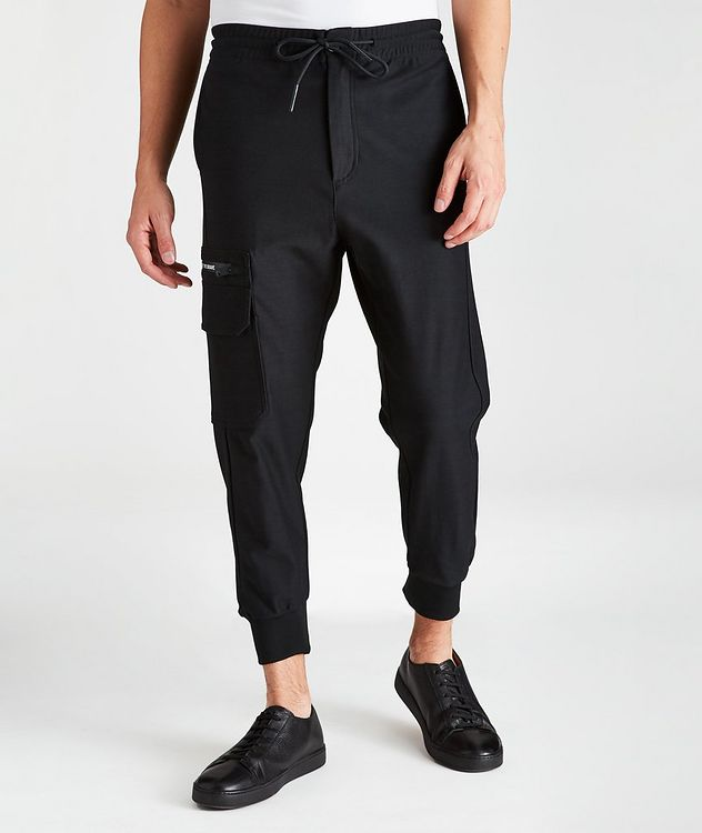 Hierro Cotton Drawstring Joggers picture 1