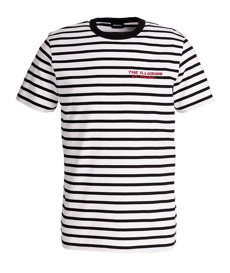 Diegosco Striped Cotton T-Shirt image 0
