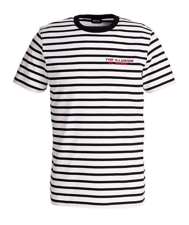 Diegosco Striped Cotton T-Shirt picture 1