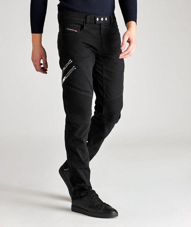 D-Dean Slim-Fit Biker Jeans picture 5