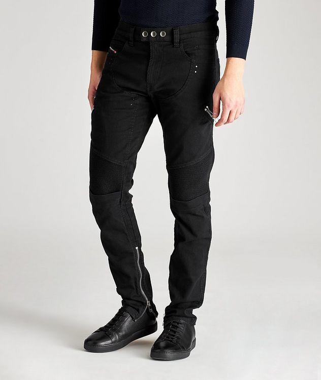 D-Dean Slim-Fit Biker Jeans picture 1