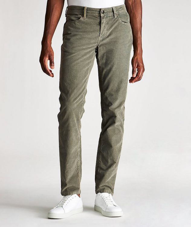 Rubens Corduroy Stretch-Cotton Pants picture 1