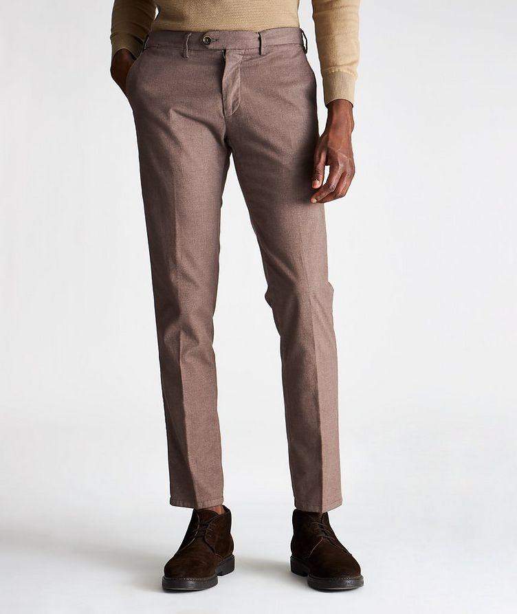 Pantalon Michaelangelo en coton extensible de coupe amincie image 0