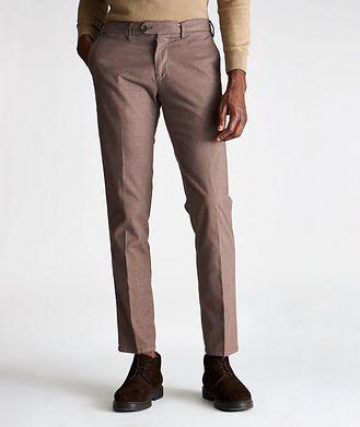 Re-HasH Pantalon Michaelangelo en coton extensible de coupe amincie