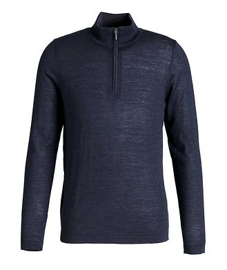 Patrick Assaraf Half-Zip Wool Sweater