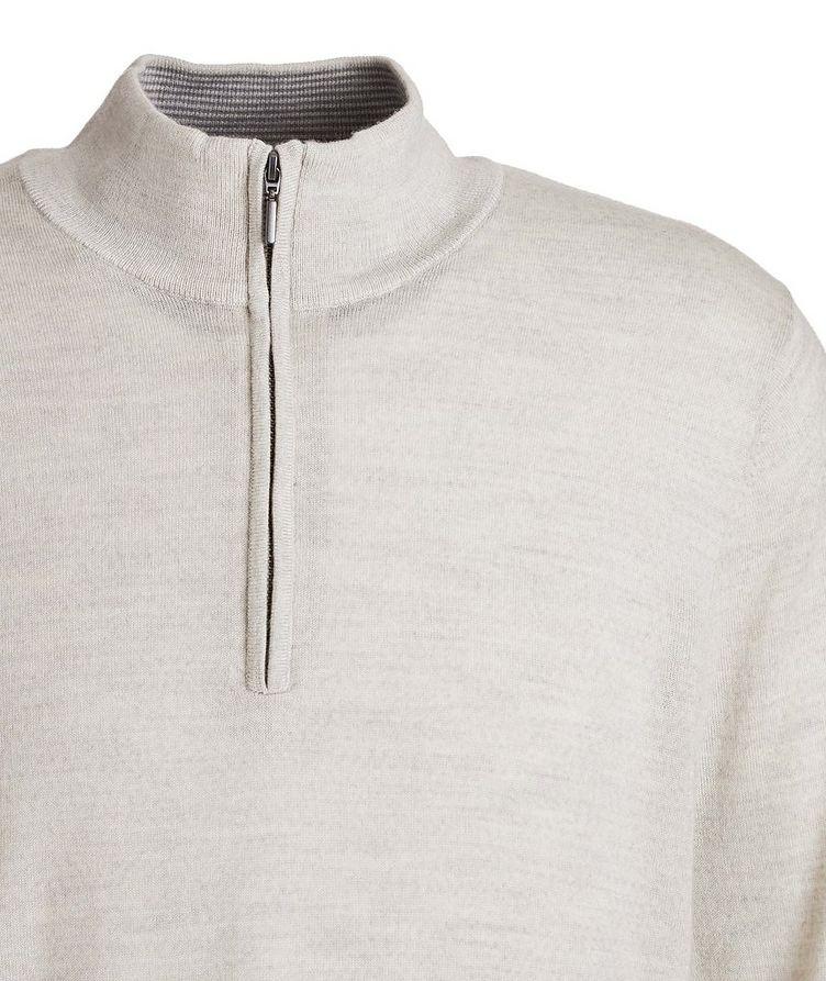 Half-Zip Wool Sweater image 2