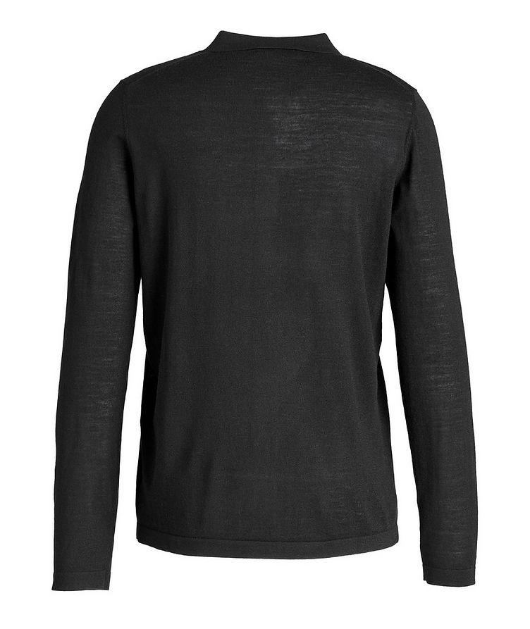 Wool Long-Sleeve Polo image 1
