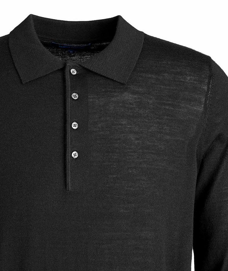 Wool Long-Sleeve Polo image 2