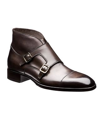 Tom Ford Leather Double-Monk Boots
