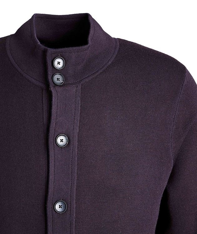 Stretch-Merino Wool Cardigan picture 3