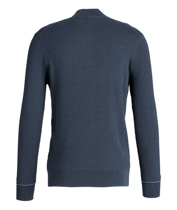 Half-Zip Cotton-Cashmere Sweater image 1