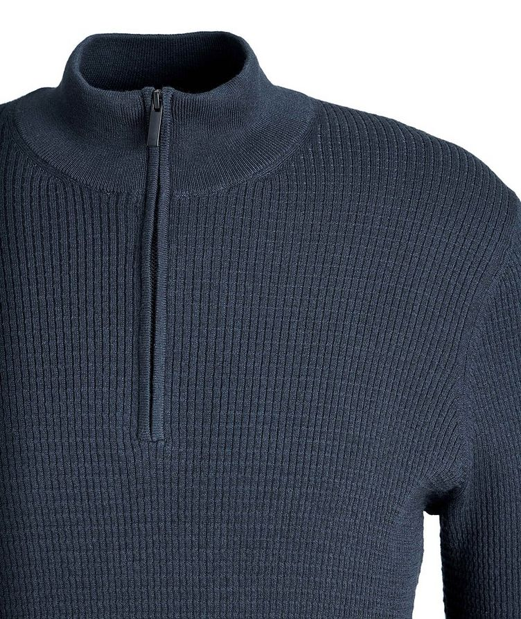 Half-Zip Cotton-Cashmere Sweater image 2