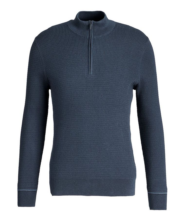 Half-Zip Cotton-Cashmere Sweater image 0