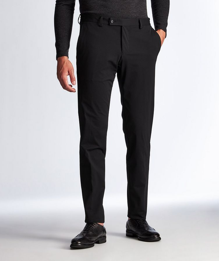 Technical Fabric Stretch-Jersey Pants image 0