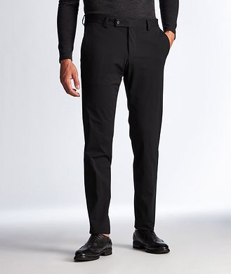 Patrick Assaraf Technical Fabric Stretch-Jersey Pants