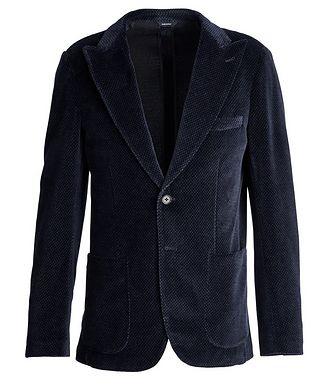 Patrick Assaraf Velour Paisley Sports Jacket