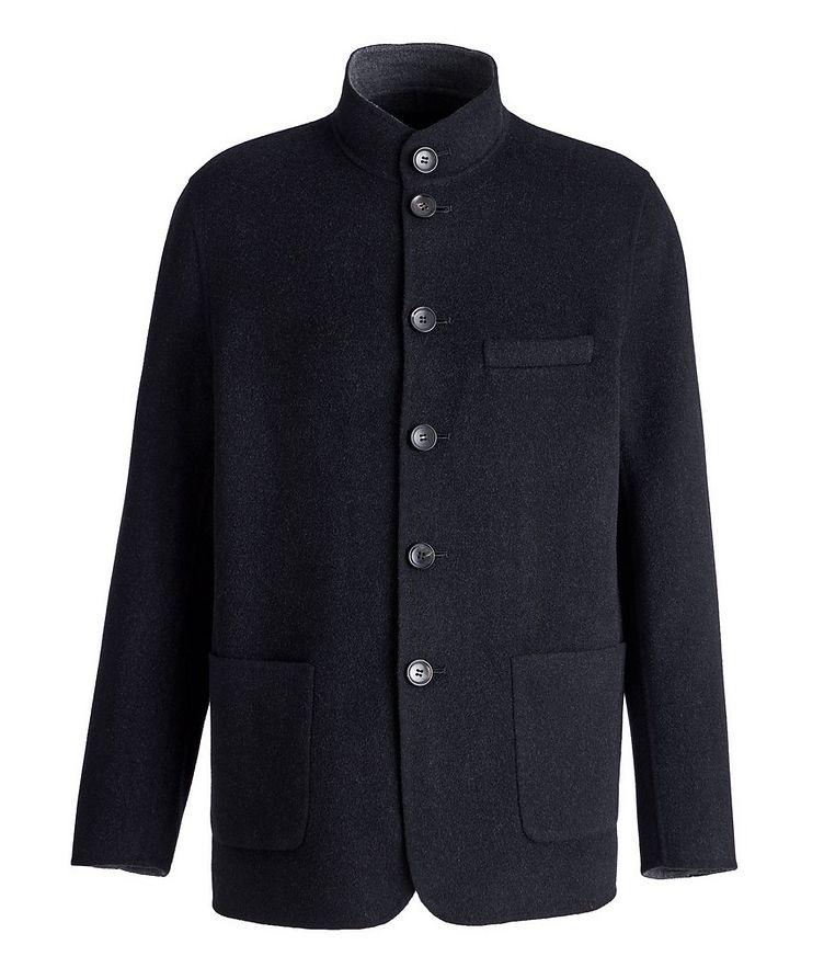 Felted Wool-Cashmere Sweater Jacket image 0