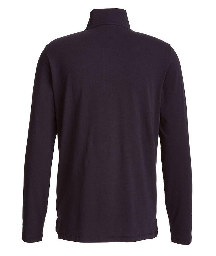 Half-Zip Stretch-Pima Cotton Sweater image 1