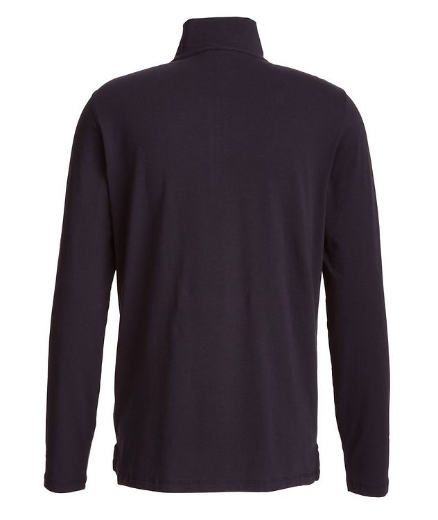 Half-Zip Stretch-Pima Cotton Sweater picture 2