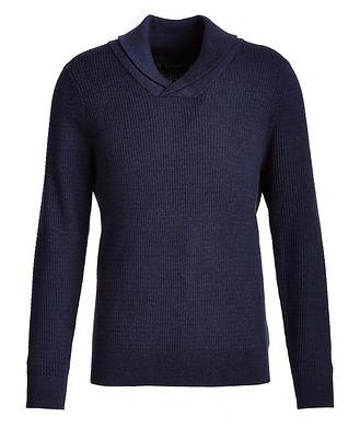 Patrick Assaraf Merino Wool Shawl Collar Sweater