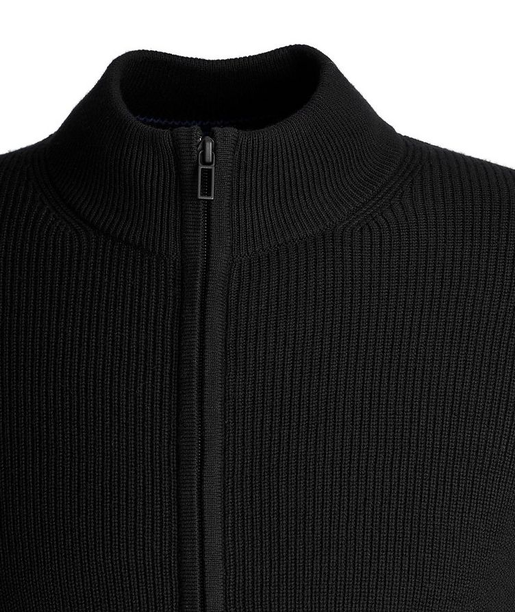 Zip-Up Cotton-Cashmere Sweater image 1