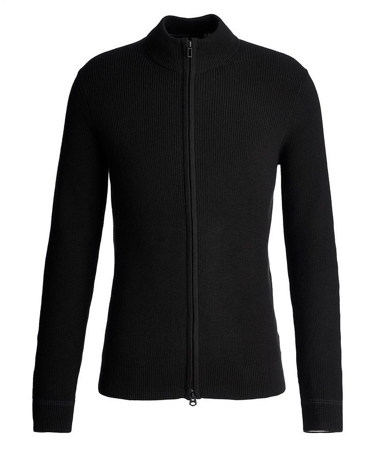 Zip-Up Cotton-Cashmere Sweater image 0