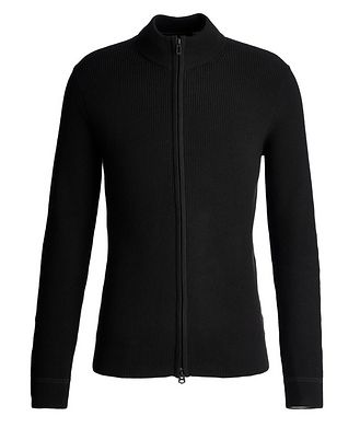 Patrick Assaraf Zip-Up Cotton-Cashmere Sweater